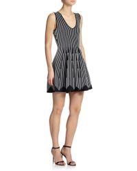 Milly Striped A-Line Dress - Lyst