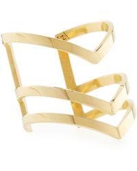 Jennifer Zeuner Triplestacked Odette Space Ring Gold 8 - Lyst