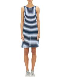 T By Alexander Wang Bengal-stripe Tank Dress - Lyst