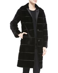 Michael Kors Mink Fur/Rainwear Reversible Coat - Lyst