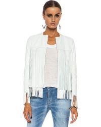 ThePerfext April Fringe Leather Jacket - Lyst