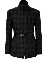 Donna Karan New York Wool-mohair-cashmere Houndstooth Jacket - Lyst
