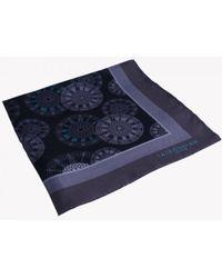 Tateossian - Big Ben Patterned Silk Pocket Square In Grey - Lyst