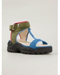 Preen T-Bar Rubber Sole Sandals - Lyst