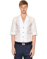 Vivienne Westwood Notch Lapels Stretch Cotton Poplin Shirt - Lyst
