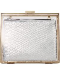 La Regale Lucite Box With Metallic Pouch - Lyst