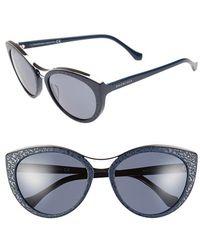 Balenciaga 'Ba0033' 57Mm Cat Eye Sunglasses blue - Lyst