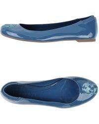 Alexander McQueen Blue Ballet Flats - Lyst