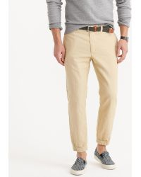 J.Crew Jogger Pant In Garment-Dyed Cotton-Linen - Lyst