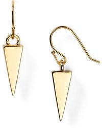 Melinda Maria - Single Pyramid Drop Earrings - Lyst