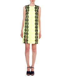 Christopher Kane | Floral-print Lace-trim Sheath Dress | Lyst