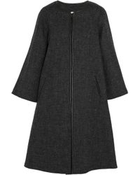 Etoile Isabel Marant Camber Leather-Trimmed Wool-Blend Coat - Lyst