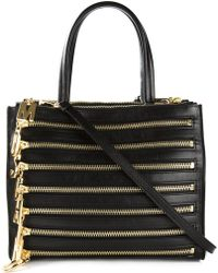 Moschino Zip-Detailed Calf-Leather Tote - Lyst