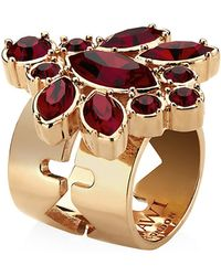 Mawi   Floral Crystal Ring   Lyst