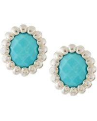 Slane - Nuage Turquoise Post Earrings - Lyst