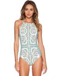 Nanette Lepore Montecito Seductress Swimsuit blue - Lyst