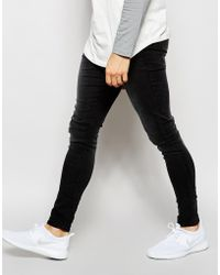 WÅVEN - Jeans Extreme Super Skinny Fit Mid Rise Washed Black - Lyst