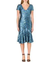 French Connection Sirius Sequinned Dress - Lyst