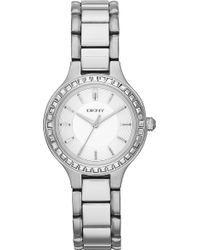 DKNY Chambers Stainless Steel Watch Silver - Lyst