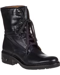 Alberto Fermani Tolve Lace-Up Boot Black Leather - Lyst