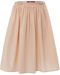 Max Mara Studio Snack A Line Silk Mix Skirt - Lyst