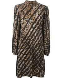 Roberto Cavalli Leopard Print Dress - Lyst