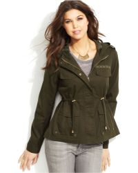 Krush - Hooded Military Anorak - Lyst
