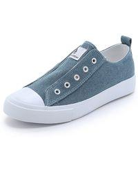 Cheap Monday Base Denim Sneakers - True Blue - Lyst
