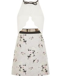 Giambattista Valli Dress with Scallop Top and Floral Skirt - Lyst