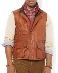 Ralph Lauren Polo Grindlay Leather Vest - Lyst