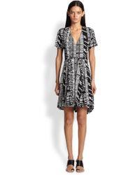 Proenza Schouler Woodblock-Print Crepe Dress - Lyst