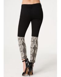 Bebe Black Embroidered Jeans - Lyst