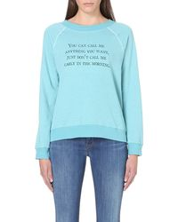 Wildfox Call Me Anything Jersey Sweat Top  - Lyst