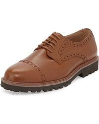 Joseph Abboud Edward Captoe Laceup Leather Brogue Tan 8 - Lyst