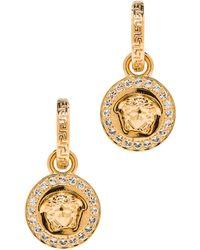 Versace Gold Medusa Earrings - Lyst