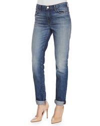 J Brand Jake Slim Boy Cuffed Jeans - Lyst