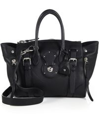 Ralph Lauren Collection Soft Ricky 27 Leather Satchel - Lyst