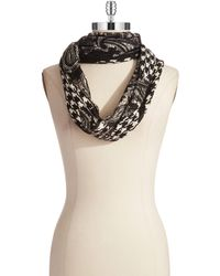 Michael by Michael Kors Mixed Pattern Infinity Scarf - Lyst