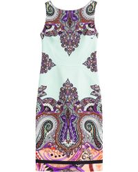 Etro Paisley Printed Dress - Lyst