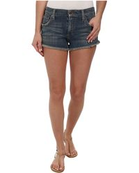 Joe's Jeans Collector'S Edition Cut Off Shorts In Navi - Lyst
