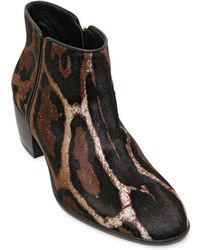 Giuseppe Zanotti Homme 45Mm Printed Ponyskin Ankle Boots - Lyst