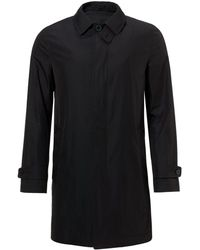 Aquascutum Button Throat Raincoat - Lyst