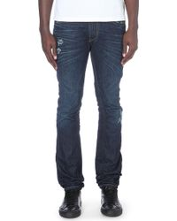 Diesel Thavar Slim-fit Skinny Low-rise Denim Jeans Blue - Lyst