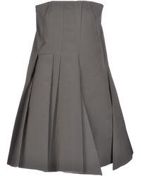Viktor & Rolf Gray Short Dress - Lyst