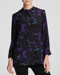 Burberry London Blouse Silk Print - Lyst