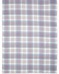 Brooks Brothers Silk And Cotton Madras Scarf - Lyst