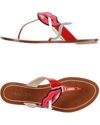 Prada Thong Sandal - Lyst