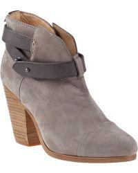 Rag & Bone Harrow Ankle Boot Grey Suede - Lyst