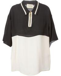 Fausto Puglisi Oversized Zipped Polo Shirt - Lyst