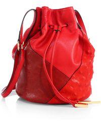 Halston Heritage Patchwork Bucket Bag - Lyst